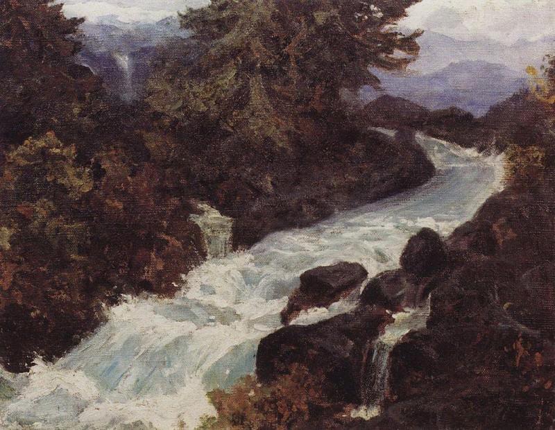 Водопад. Конец 1890 - начало 1900-х. Василий Дмитриевич Поленов