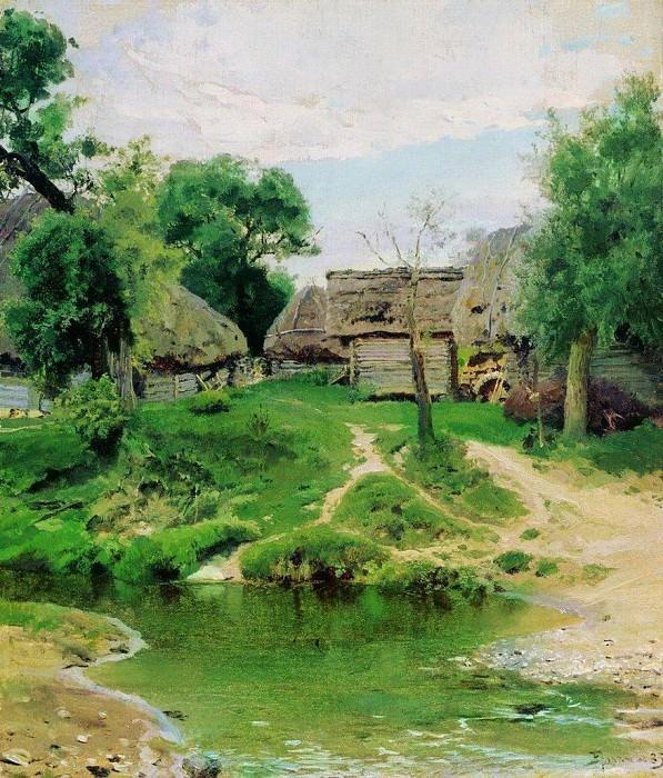 Деревня Тургенево. 1885. Василий Дмитриевич Поленов