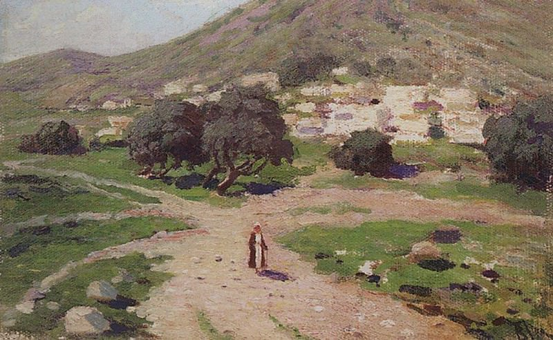 У подножия горы. 1890-1909. Vasily Polenov