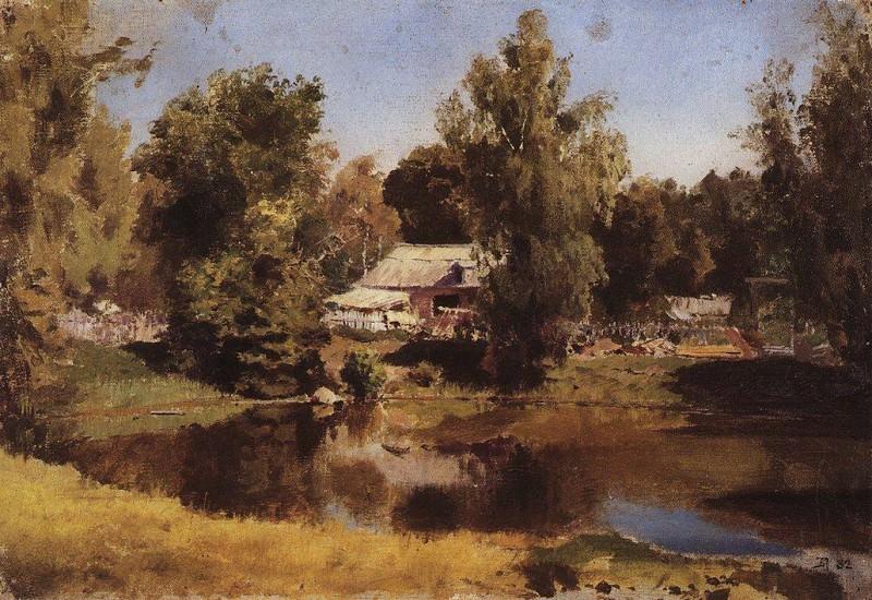 Верхний пруд в Абрамцеве. 1882. Vasily Polenov