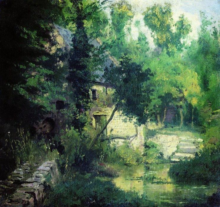 Мельница на истоке речки Вёль. 1874. Vasily Polenov