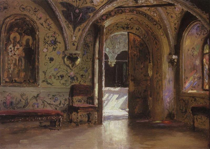 Теремной дворец. Выход из покоев на Золотое крыльцо. 1877. Vasily Polenov