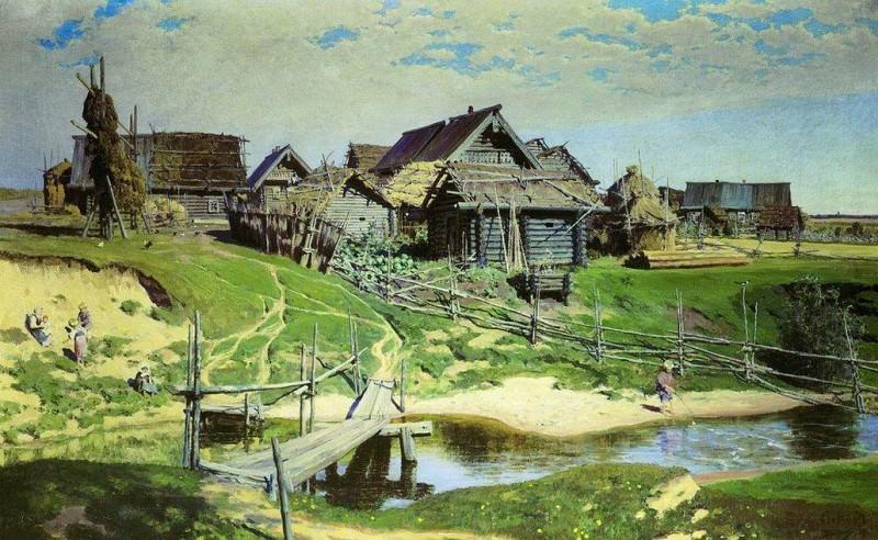 Русская деревня. 1889. Vasily Polenov