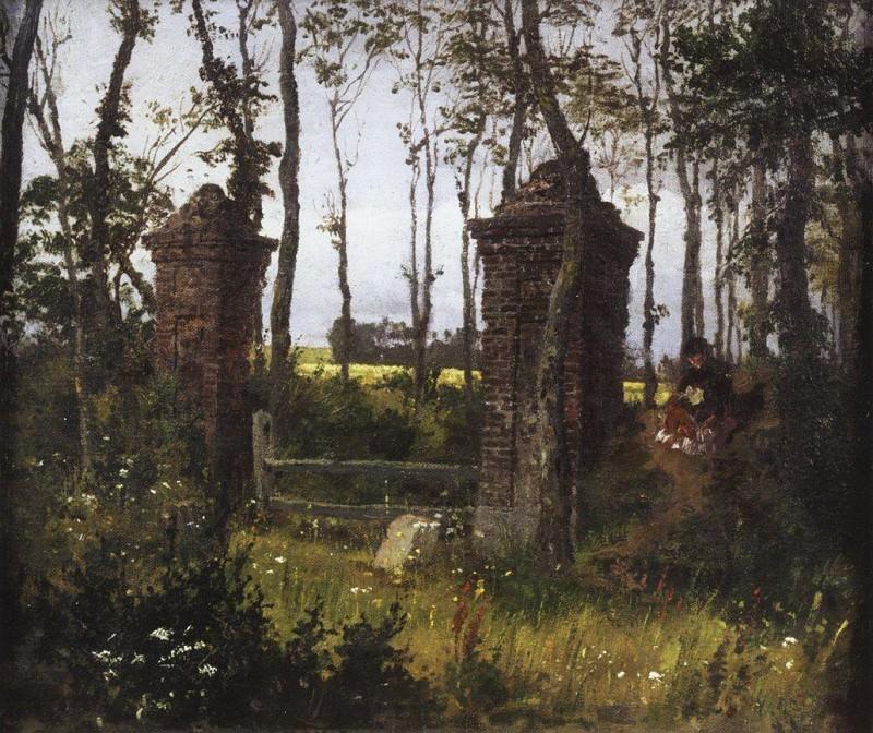 Старые ворота. Вель. Нормандия. 1874. Vasily Polenov