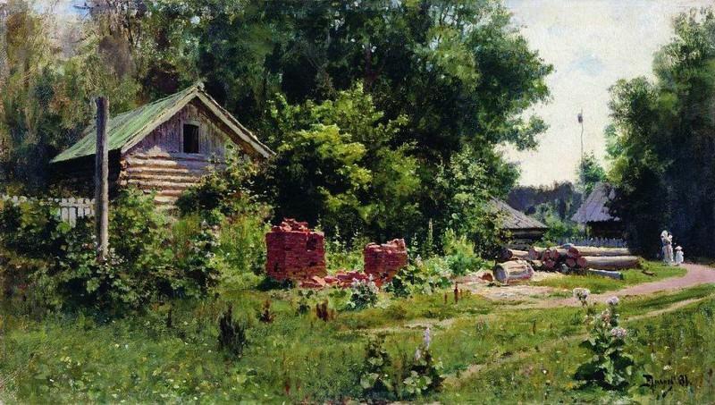 Дворик. 1881. Василий Дмитриевич Поленов