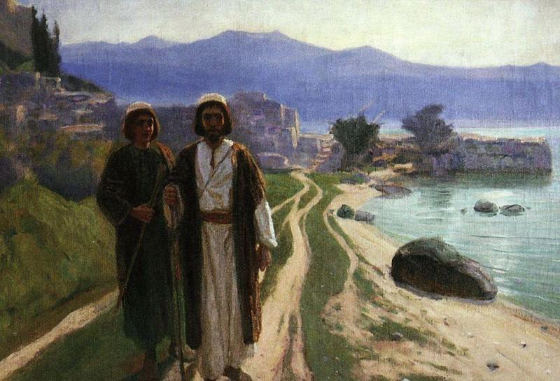 Решили идти в Иерусалим. 1899-1909. Vasily Polenov