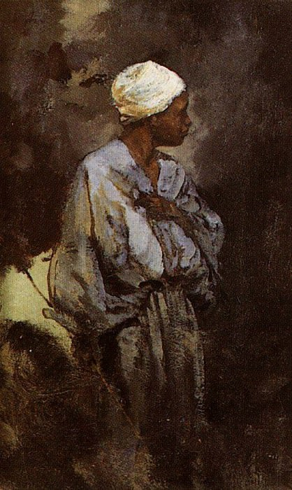 Погонщик ослов в Каире. 1882. Vasily Polenov