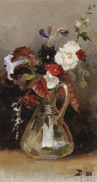 Букет цветов. 1880. Vasily Polenov