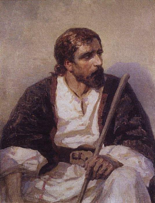 Сидящий Христос. 1880-е. Vasily Polenov