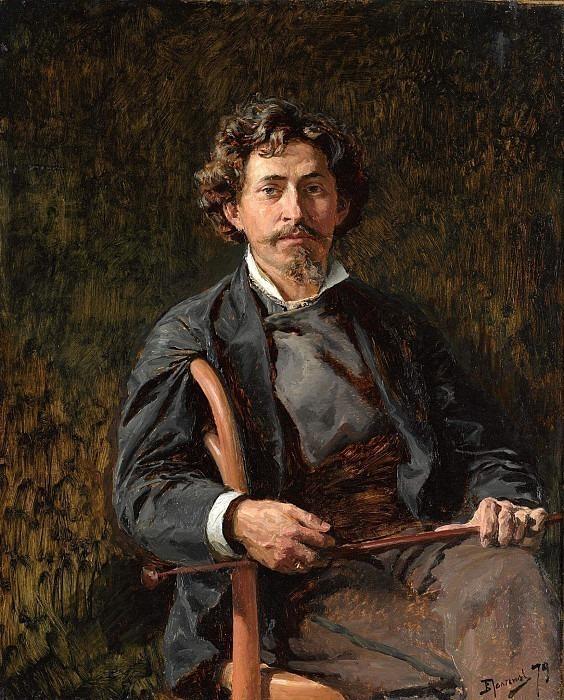 Portrait of the artist Ilya Repin (1844-1930). Vasily Polenov