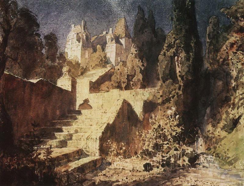 Лестница к замку. 1882-1883. Vasily Polenov
