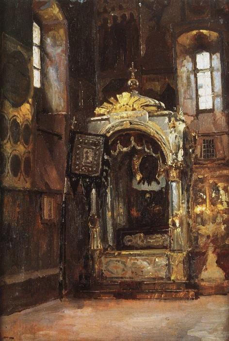 Успенский собор. Рака митрополита Ионы. 1877. Vasily Polenov