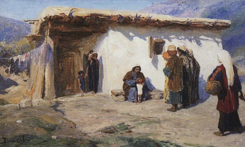 Привели детей 2. 1890-1900-е. Vasily Polenov