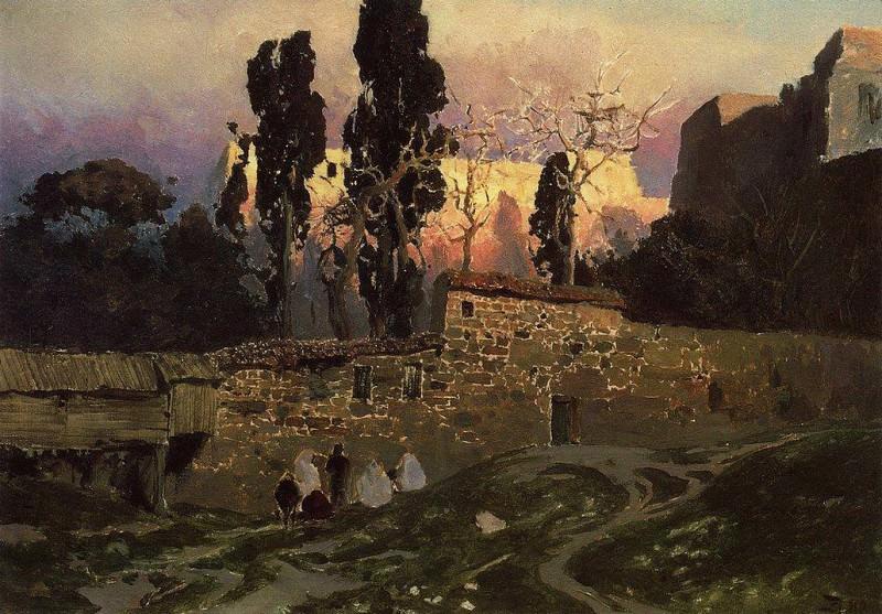 Константинополь (Стамбул). Эски-Сарайский сад. 1882. Василий Дмитриевич Поленов