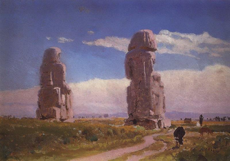 Колоссы Мемнона (Статуя Аменхотепа III). Vasily Polenov