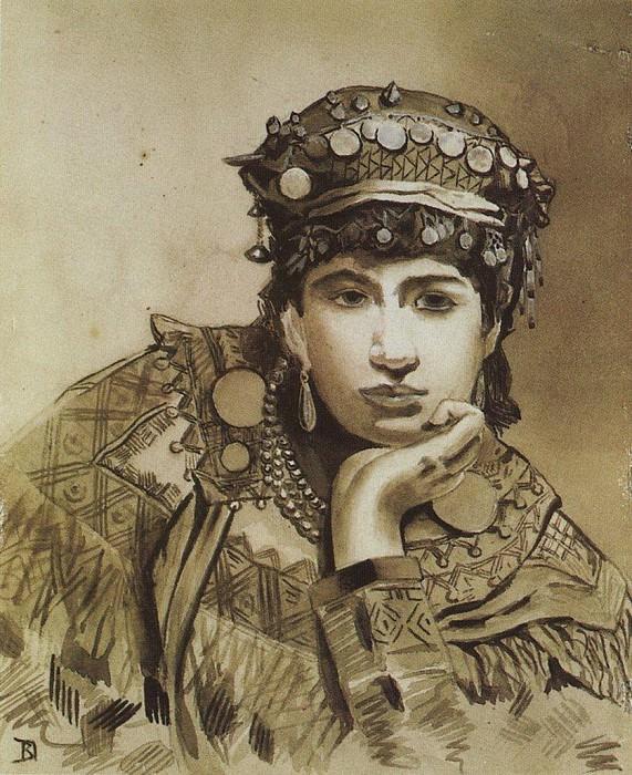 Черногорская девушка. 1876. Vasily Polenov