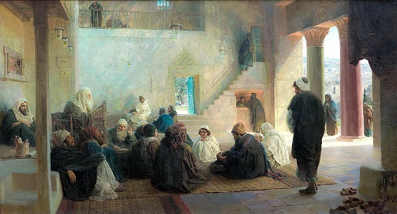 Among teachers. Vasily Polenov