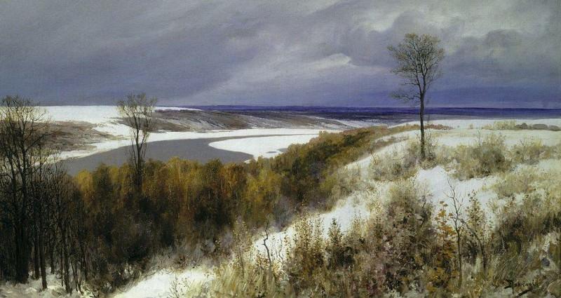 Ранний снег. 1891. Василий Дмитриевич Поленов