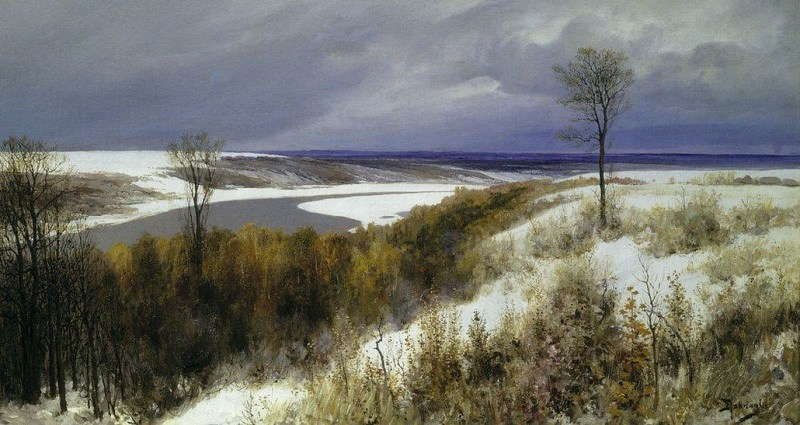 Ранний снег. 1891. Vasily Polenov