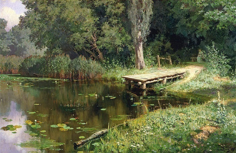 Overgrown pond. Vasily Polenov