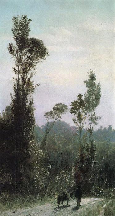 Итальянский пейзаж с крестьянином. 1874. Vasily Polenov
