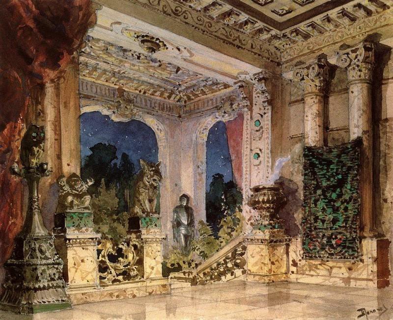 Зал в волшебном замке. 1882-1883. Василий Дмитриевич Поленов