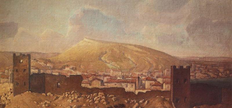 Вид Феодосии со стороны Карантина с развалинами Генуэзской крепости. 1912. Vasily Polenov