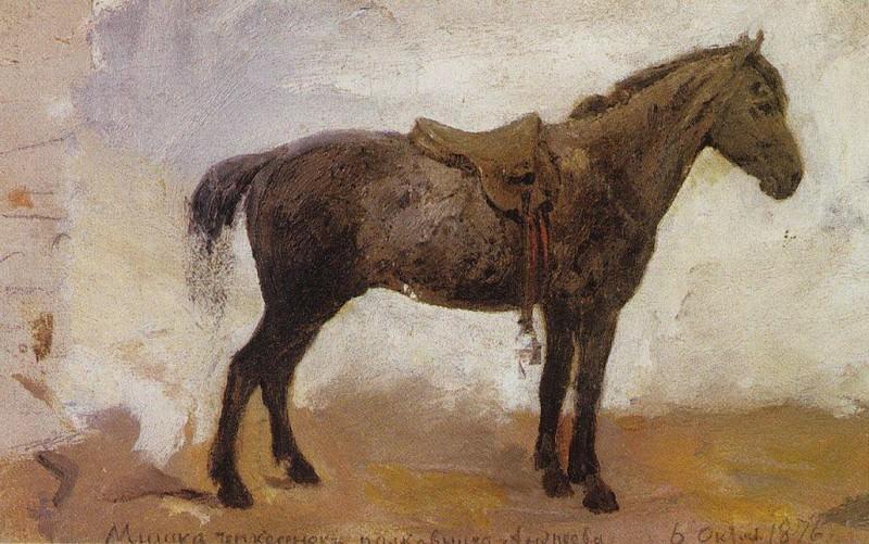 Конь Мишка. 1876. Vasily Polenov