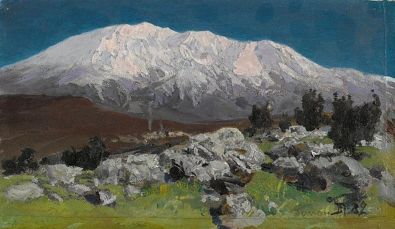 At the foot of Mount Hermon. Vasily Polenov