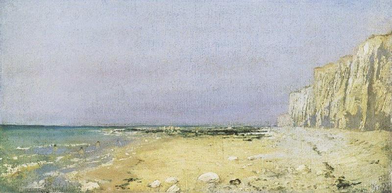 Нормандский берег. 1874. Vasily Polenov