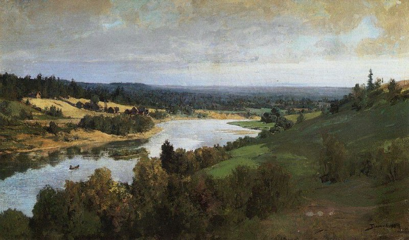 Река Оять 2. 1880-е. Vasily Polenov