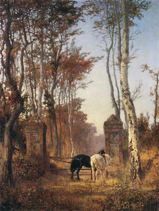 В парке. Местечко Вёль в Нормандии. 1874. Василий Дмитриевич Поленов