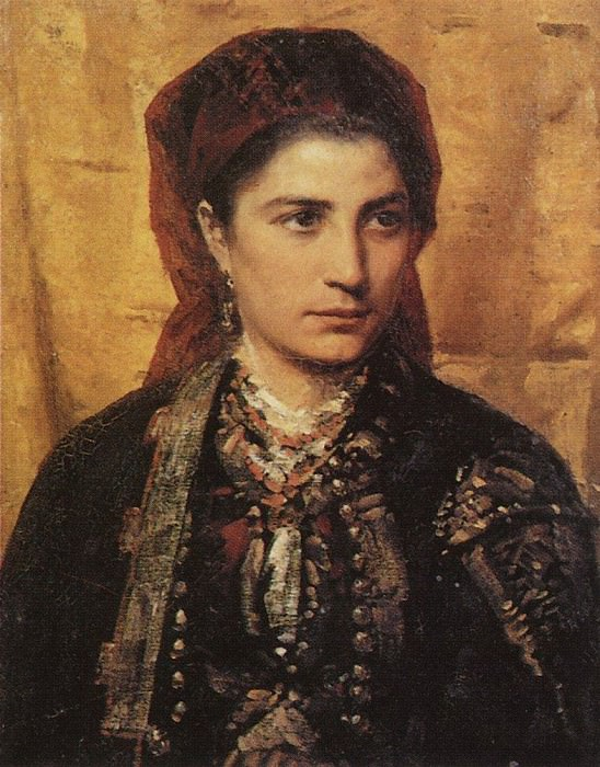Черногорка. 1874. Vasily Polenov