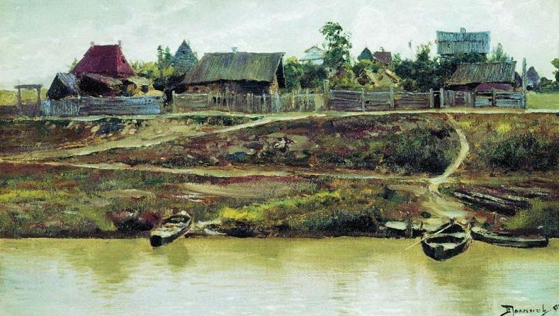 Приволжский поселок. 1897. Vasily Polenov