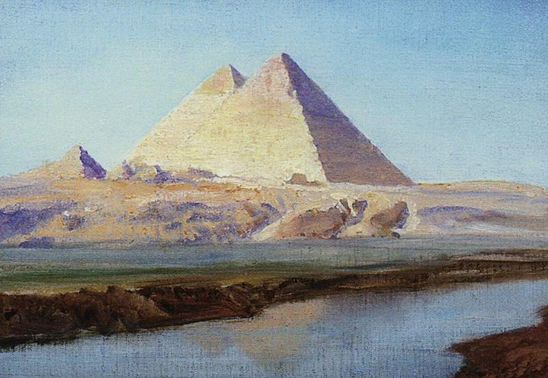 Большие пирамиды Хеопса и Хефрена. 1899. Василий Дмитриевич Поленов