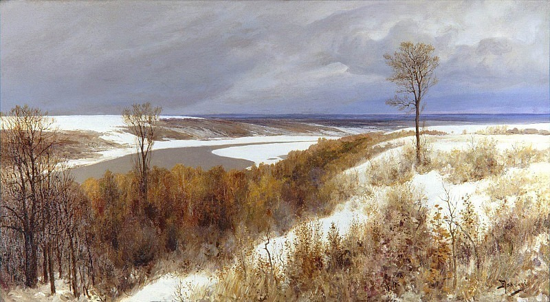 Early snow. Vasily Polenov