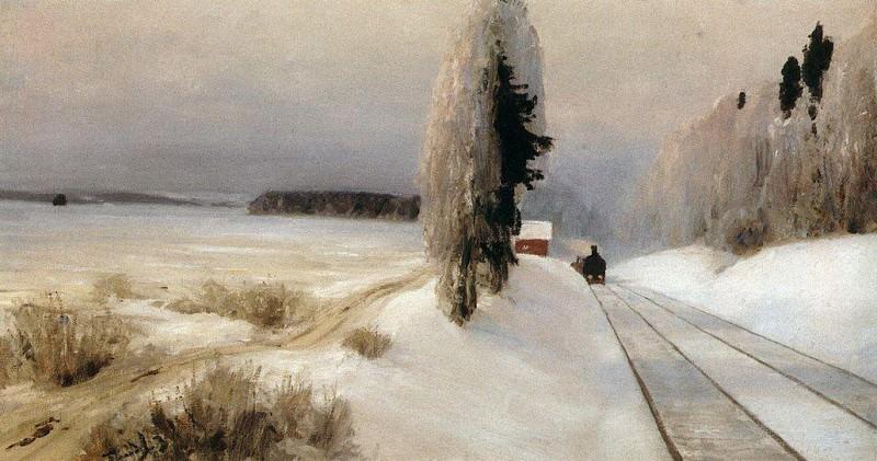 Железная дорога близ станции Тарусская. 1903. Vasily Polenov