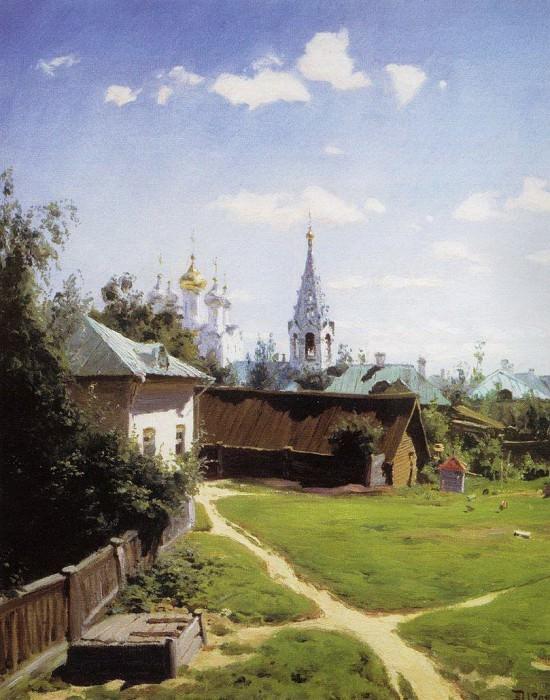 Moscow courtyard. Vasily Polenov