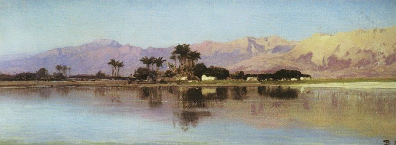 Нил у Фиванского хребта. 1881. Vasily Polenov