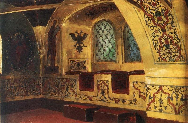 Золотая царицына палата. Окно. 1877. Василий Дмитриевич Поленов