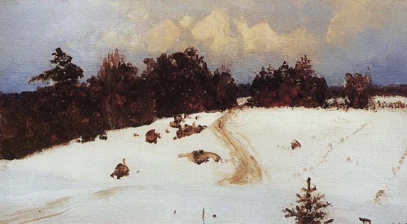 Зимний пейзаж. Бёхово. 1897. Василий Дмитриевич Поленов