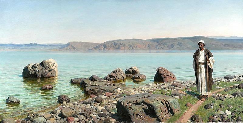 На Тивериадском (Генисаретском) озере. Василий Дмитриевич Поленов