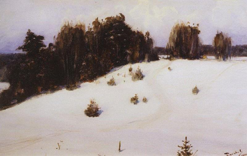 Зима. 1890. Василий Дмитриевич Поленов