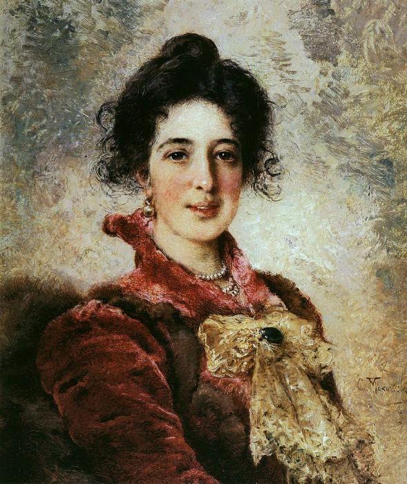 Female portrait. Konstantin Makovsky