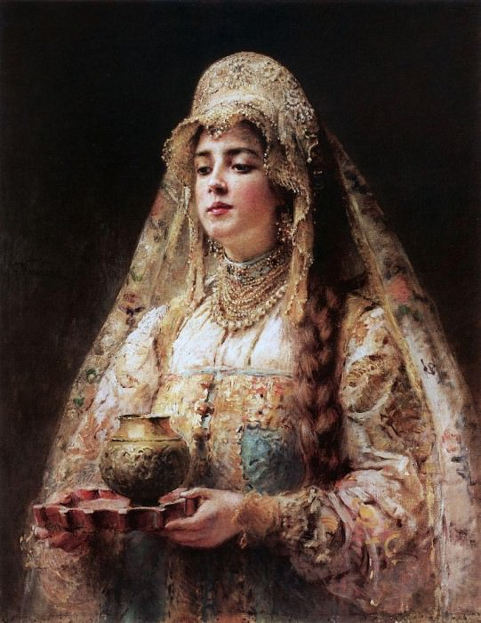 A Cup of Honey. Konstantin Makovsky