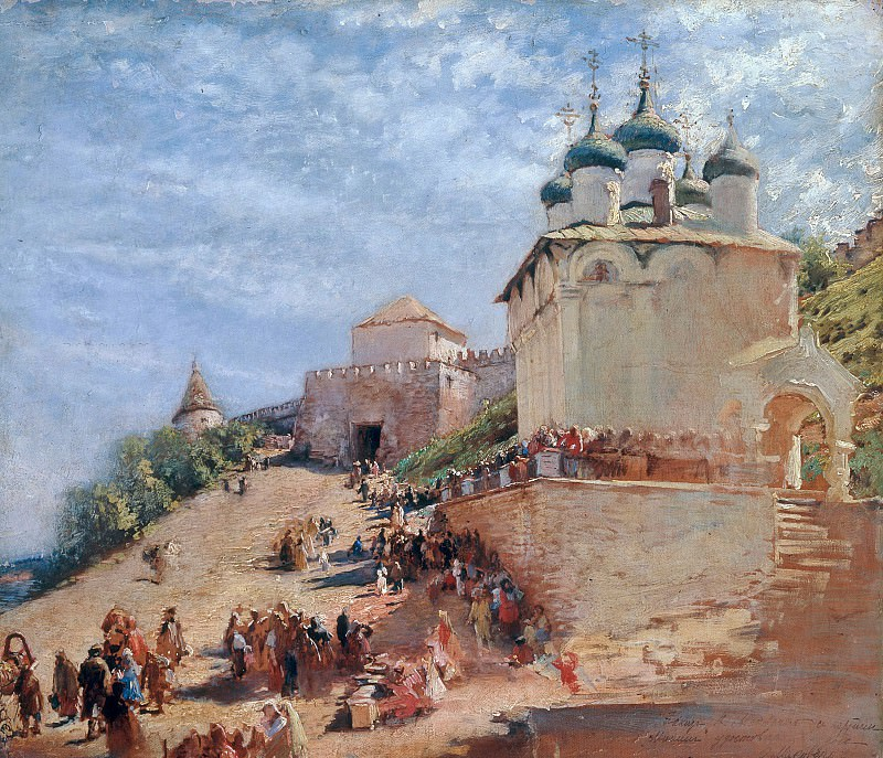 The Ivanovsky Road to the Kremlin of Nizhny Novgorod. Konstantin Makovsky