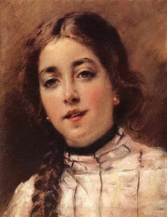 Портрет дочери художника. Оленька. Константин Егорович Маковский