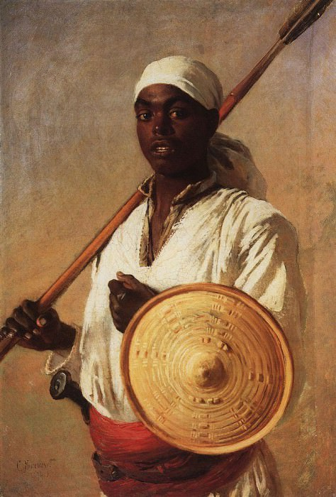 Egyptian Warrior. Konstantin Makovsky