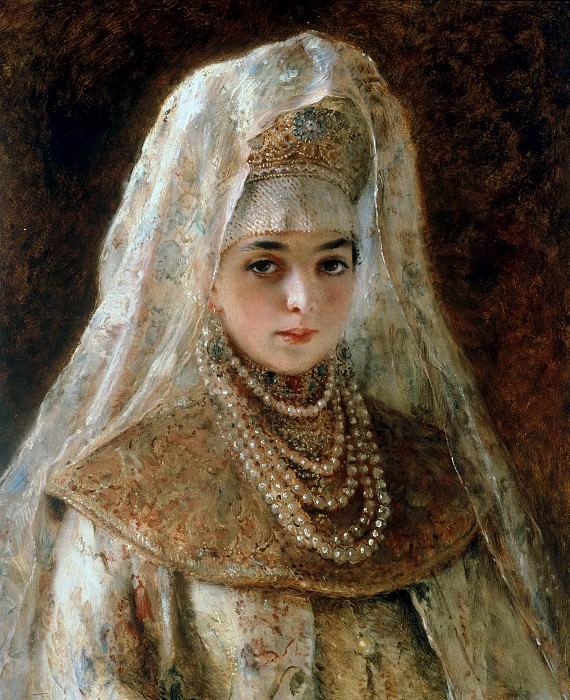 A Girl in a Boyar Costume. Konstantin Makovsky