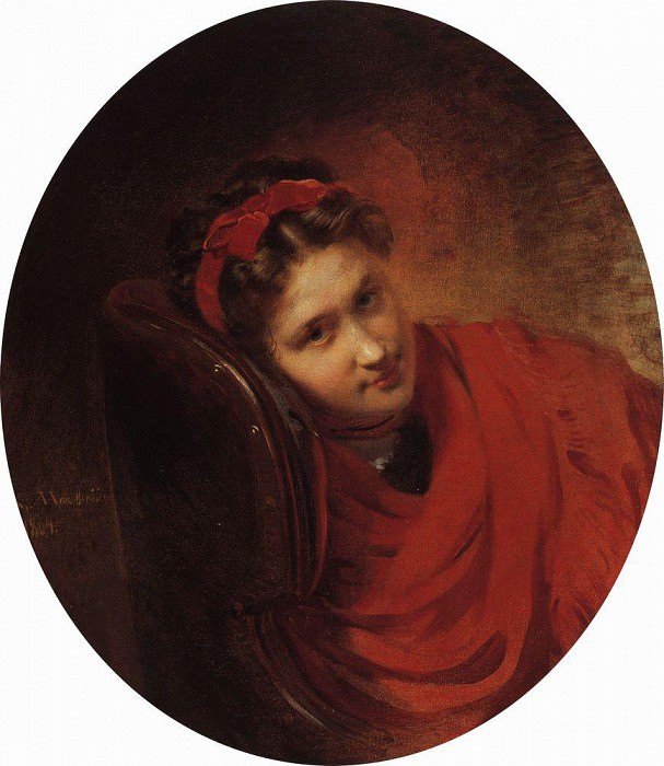 Ольга Степановна Маковская, жена В. Е. Маковского (брата художника). Константин Егорович Маковский
